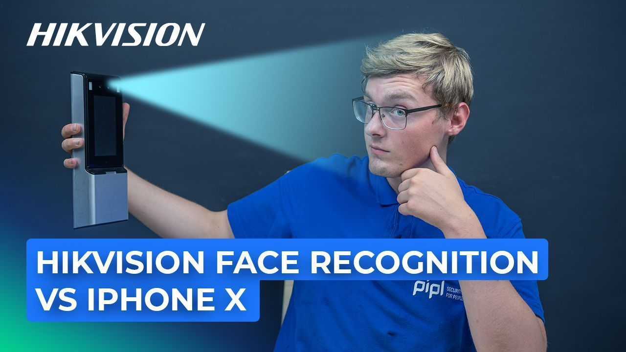 Hikvision Face Recognition Terminal Compared to iPhone X [DS-K1T606M]