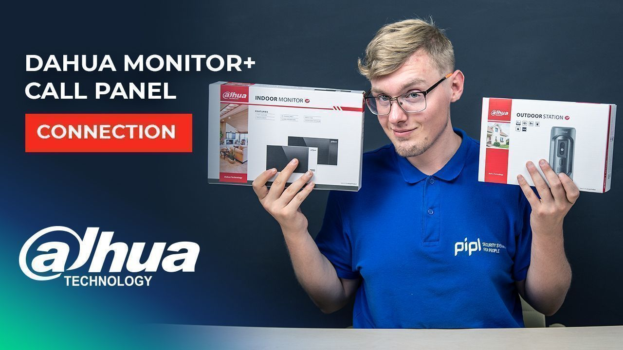 Dahua Intercom Monitor DHI-VTH2421FB And Call Panel DHI-VTO2101E-P Connection And Setup