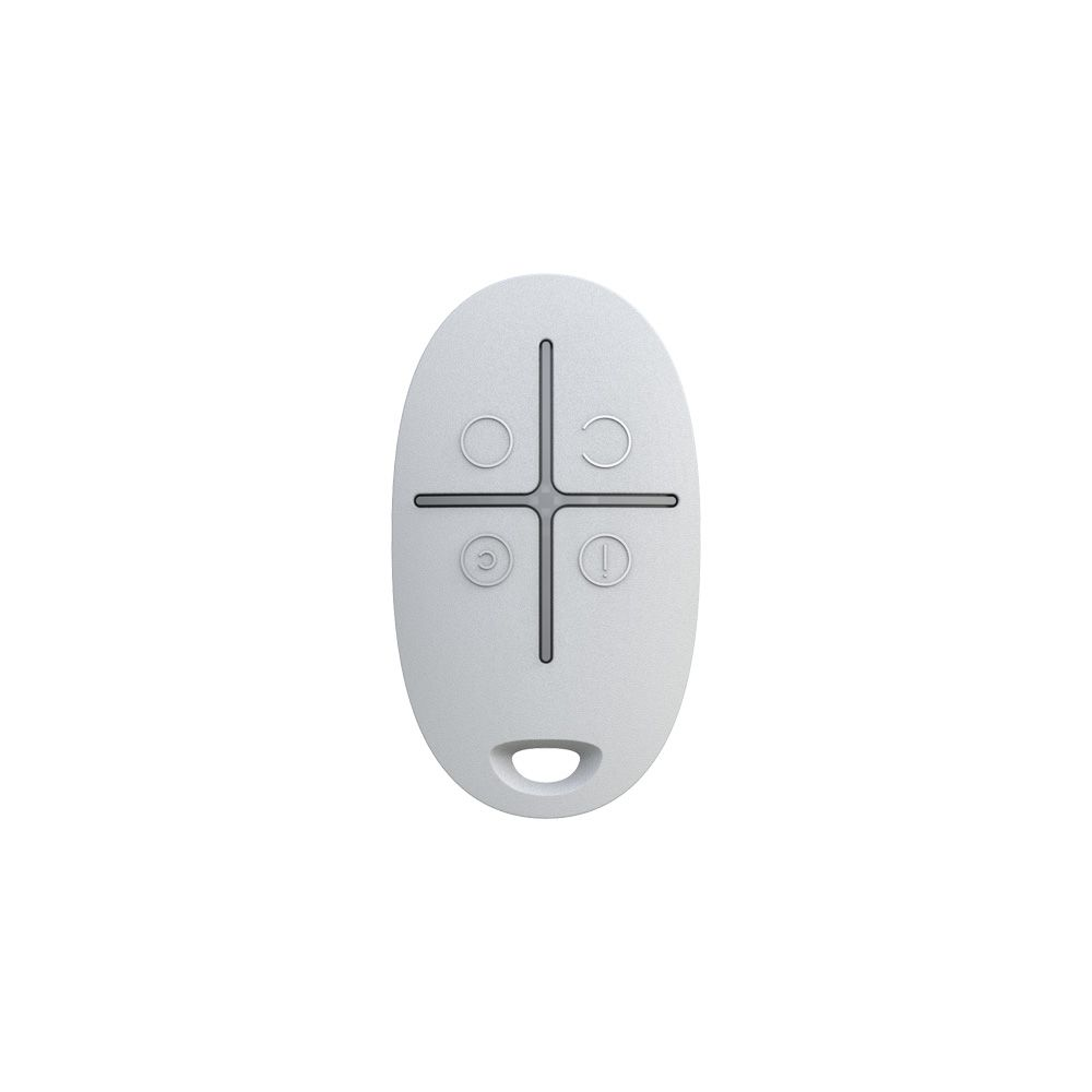 Ajax SpaceControl White Wireless Key Fob for Controlling Ajax Alarm System