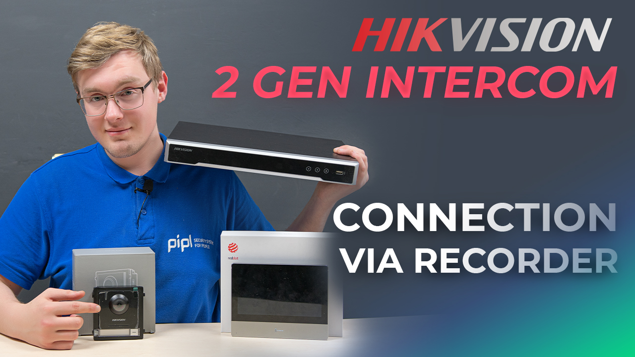 Connecting Hikvision 2ND Generation Modular Intercom System Via Video Recorder
