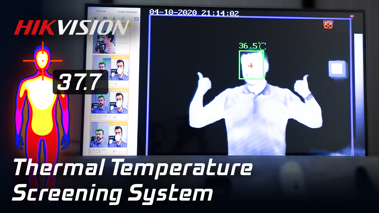 Full Body Temperature Measurement System By Hikvision Test! Thermal Fever Screening / Elevated Temp