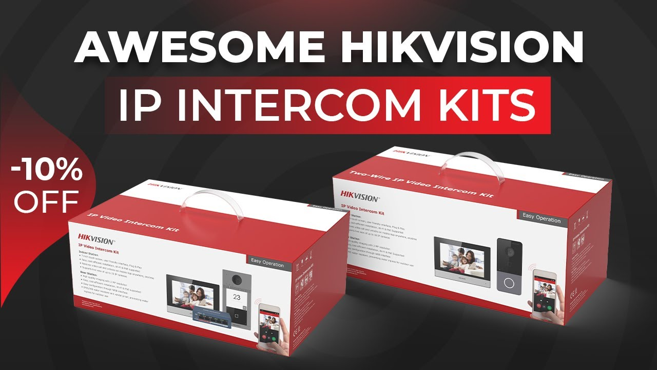 Hikvision NEW IP Intercom Kits Review: DS-KIS603-P & DS-KIS604-S Featuring KV6113 and KV8113 & Setup
